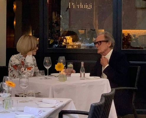A special night yesterday, with the iconic Anna Wintour and Bill Nighy